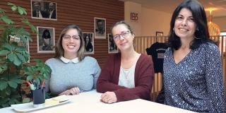 Corinne, Tania et Anne, fabricantes Indus MD