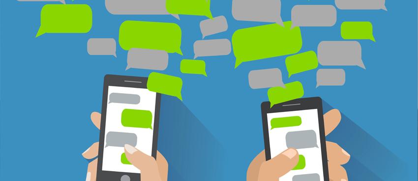 Illustration campagne marketing par SMS