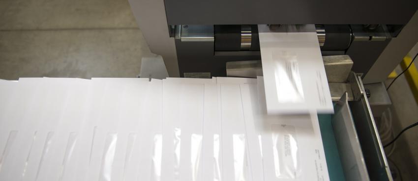 Machine d'affranchissement pour publipostage
