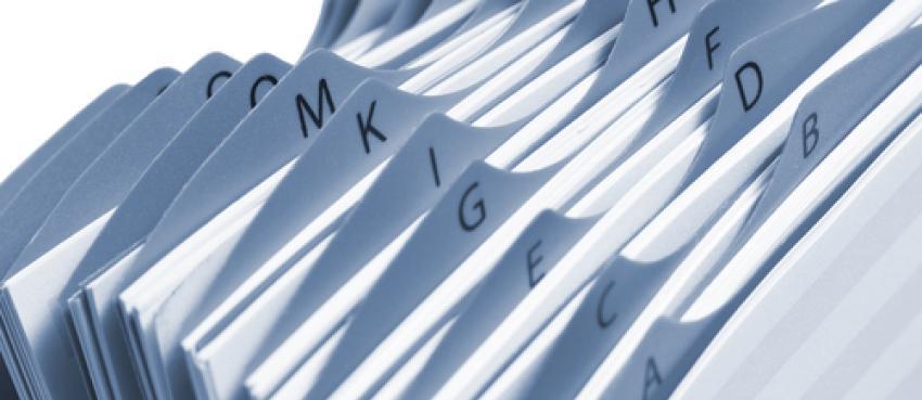 Illustration fichiers d'adresses pour bases de données